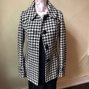 Tulle Houndstooth Jacket XS Black and White